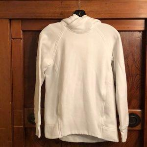 Lululemon white hoodie sweatshirt w/pocket sz 4